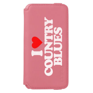 I LOVE COUNTRY BLUES iPhone 6/6S WALLET CASE