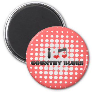 I Love Country Blues Fridge Magnets