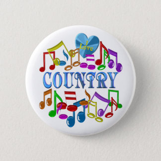 I Love Country Button