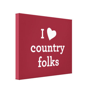 I Love Country Canvas Print