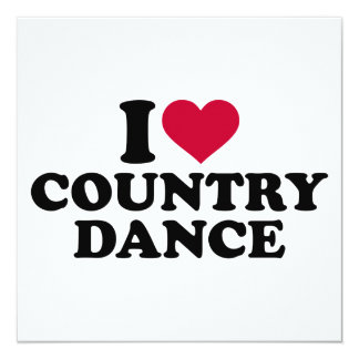 I love country dance card