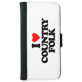 I LOVE COUNTRY FOLK WALLET PHONE CASE FOR iPhone 6/6S