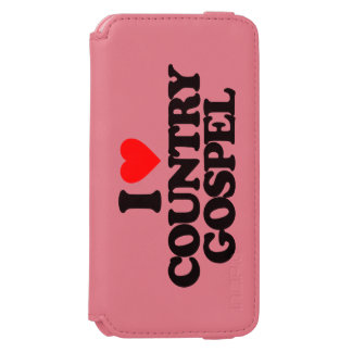 I LOVE COUNTRY GOSPEL iPhone 6/6S WALLET CASE