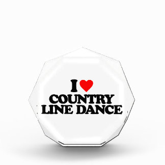I LOVE COUNTRY LINE DANCE ACRYLIC AWARD
