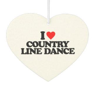 I LOVE COUNTRY LINE DANCE AIR FRESHENER