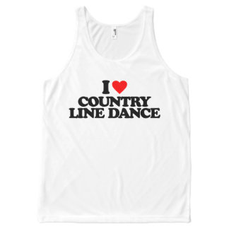 I LOVE COUNTRY LINE DANCE All-Over PRINT TANK TOP