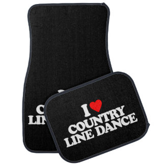 I LOVE COUNTRY LINE DANCE CAR FLOOR MAT