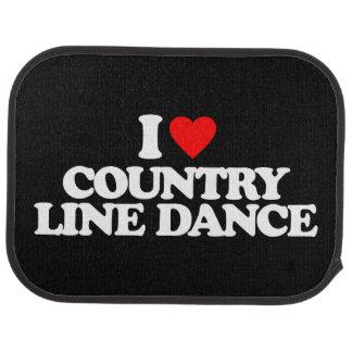 I LOVE COUNTRY LINE DANCE CAR MAT
