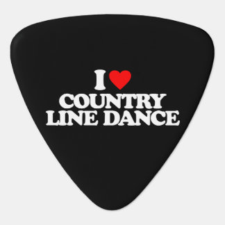 I LOVE COUNTRY LINE DANCE GUITAR PICK