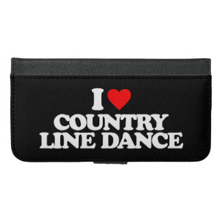 I LOVE COUNTRY LINE DANCE iPhone 6/6S PLUS WALLET CASE