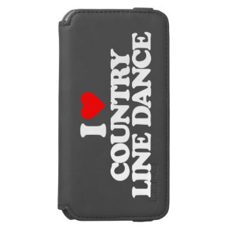 I LOVE COUNTRY LINE DANCE iPhone 6/6S WALLET CASE