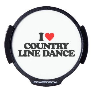 I LOVE COUNTRY LINE DANCE LED CAR DECAL