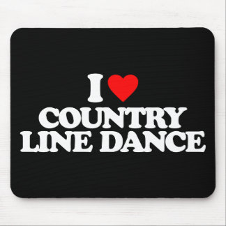I LOVE COUNTRY LINE DANCE MOUSE PAD