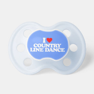 I LOVE COUNTRY LINE DANCE PACIFIER