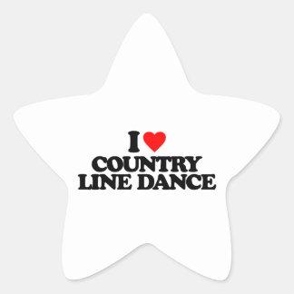 I LOVE COUNTRY LINE DANCE STAR STICKER