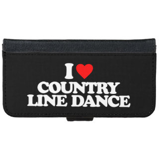 I LOVE COUNTRY LINE DANCE WALLET PHONE CASE FOR iPhone 6/6S
