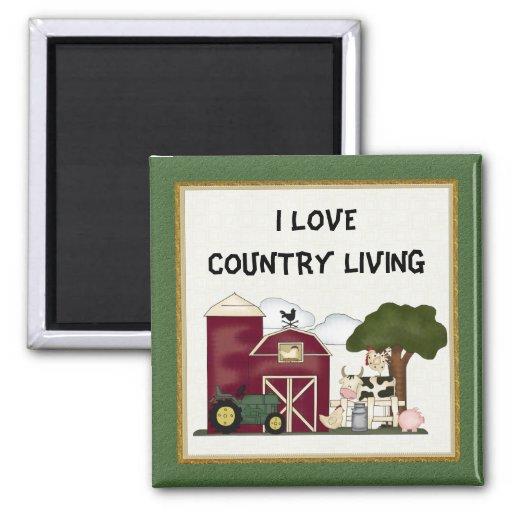 I Love Country Living magnet Magnet