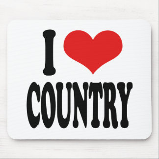 I Love Country Mouse Pad