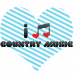 I Love Country Music Acrylic Cut Out