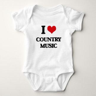 I love Country Music Baby Bodysuit