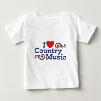 I Love Country Music Baby T-Shirt