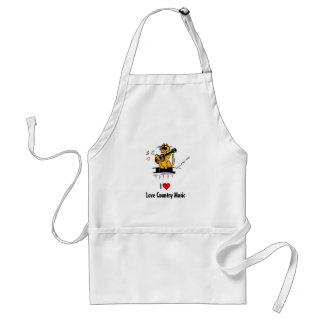 I love country music by Kountry Kat Aprons