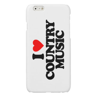 I LOVE COUNTRY MUSIC GLOSSY iPhone 6 CASE