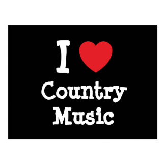 I love Country Music heart custom personalized Postcard