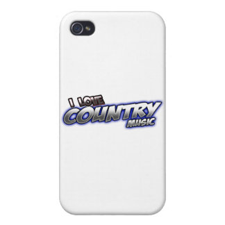 I Love COUNTRY music iPhone 4 Covers