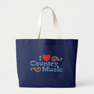 I Love Country Music Large Tote Bag