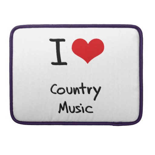 I love Country Music Sleeve For MacBooks