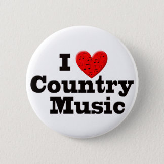I Love Country Music Pinback Button