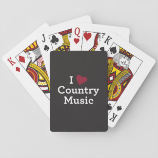 I Love Country Music Playing Cards
