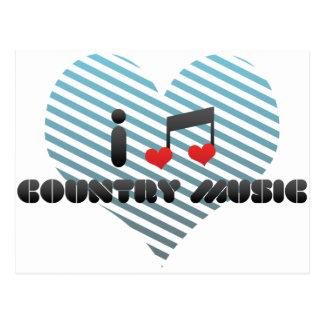 I Love Country Music Postcard