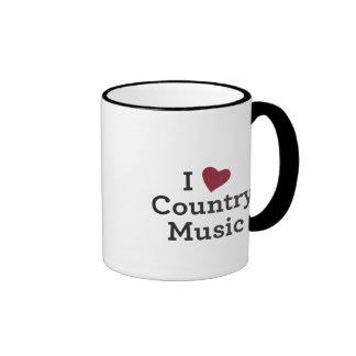 I Love Country Music Ringer Mug
