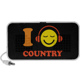 I love country music smiley Doodle speakers
