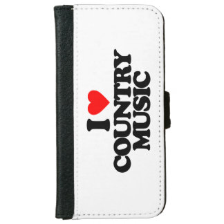 I LOVE COUNTRY MUSIC WALLET PHONE CASE FOR iPhone 6/6S