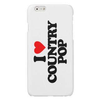 I LOVE COUNTRY POP GLOSSY iPhone 6 CASE