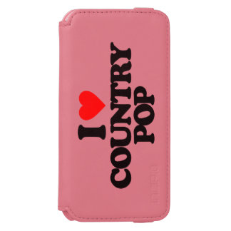 I LOVE COUNTRY POP iPhone 6/6S WALLET CASE