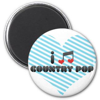 I Love Country Pop Fridge Magnet