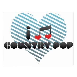 I Love Country Pop Postcard