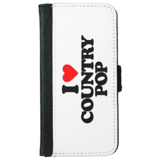 I LOVE COUNTRY POP WALLET PHONE CASE FOR iPhone 6/6S