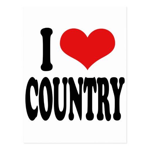 I Love Country Postcard