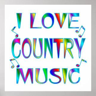 I Love Country Print