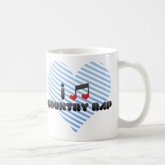 I Love Country Rap Classic White Coffee Mug