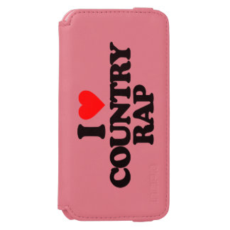 I LOVE COUNTRY RAP iPhone 6/6S WALLET CASE