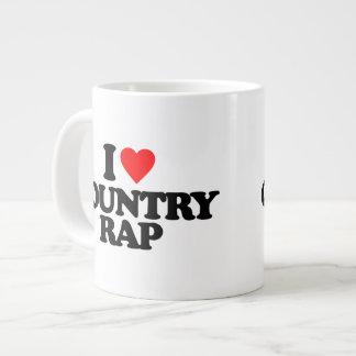 I LOVE COUNTRY RAP LARGE COFFEE MUG
