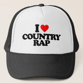 I LOVE COUNTRY RAP TRUCKER HAT