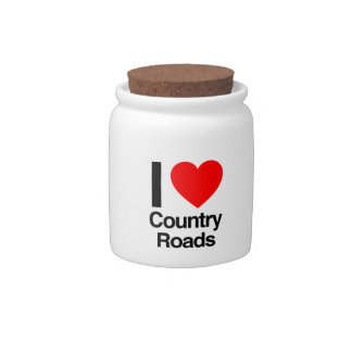 i love Country Roads Candy Dish