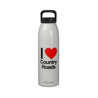 i love Country Roads Reusable Water Bottle